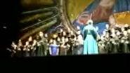 О. Климент регентирует хором из 75 человек. Родждественский концерт в Мариинском театра г. Владивосток