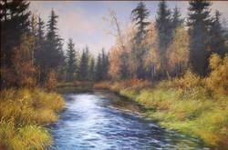 Таёжная река х.м. 60х90