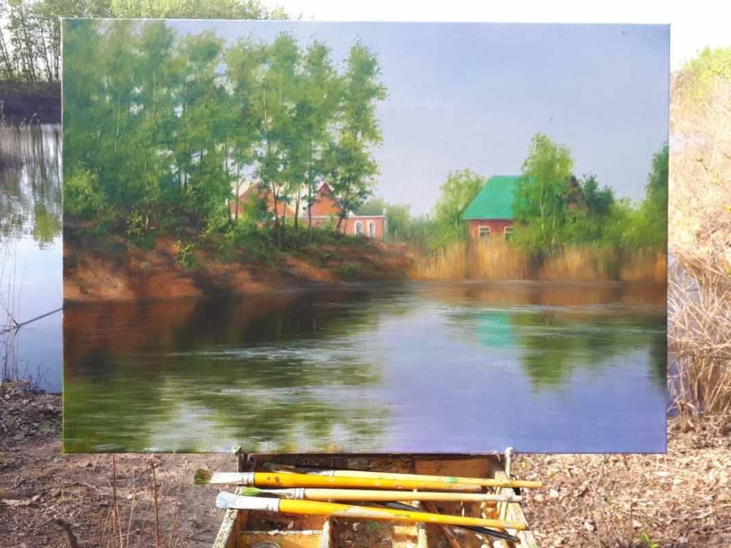Савчнеко Л. Озеро. Виноградовка. 50х70 (3)