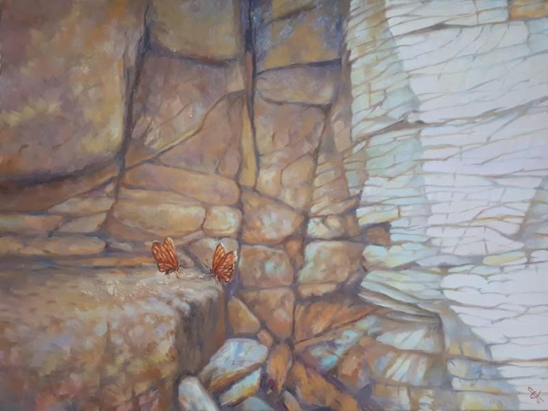 Скальные бабочки 45х60 х.,м.