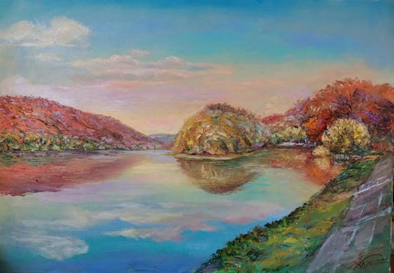 Река Уссури 52х75 х.,м.