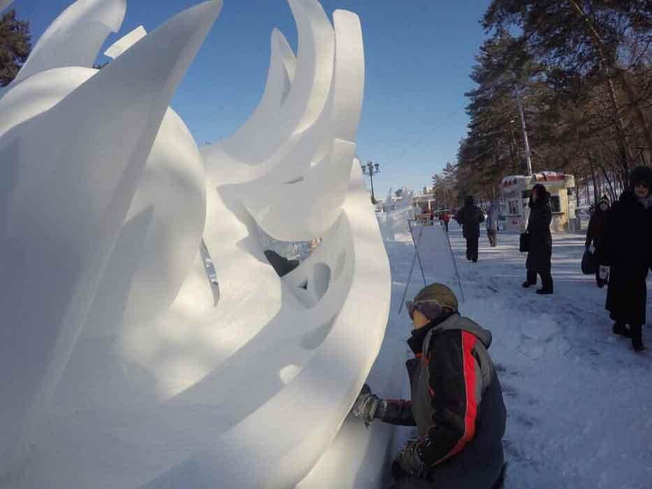 Конкурс снежных скульптур (12)