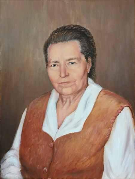 Портрет мамы хм 50х60 2019 г.
