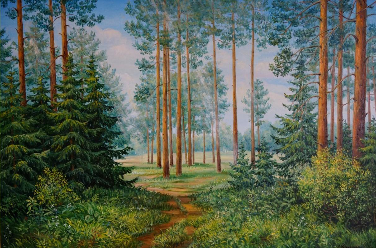 Тропинка в лесу 70х60 х.м.