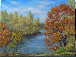 Октябрь. На Краснореченском озере