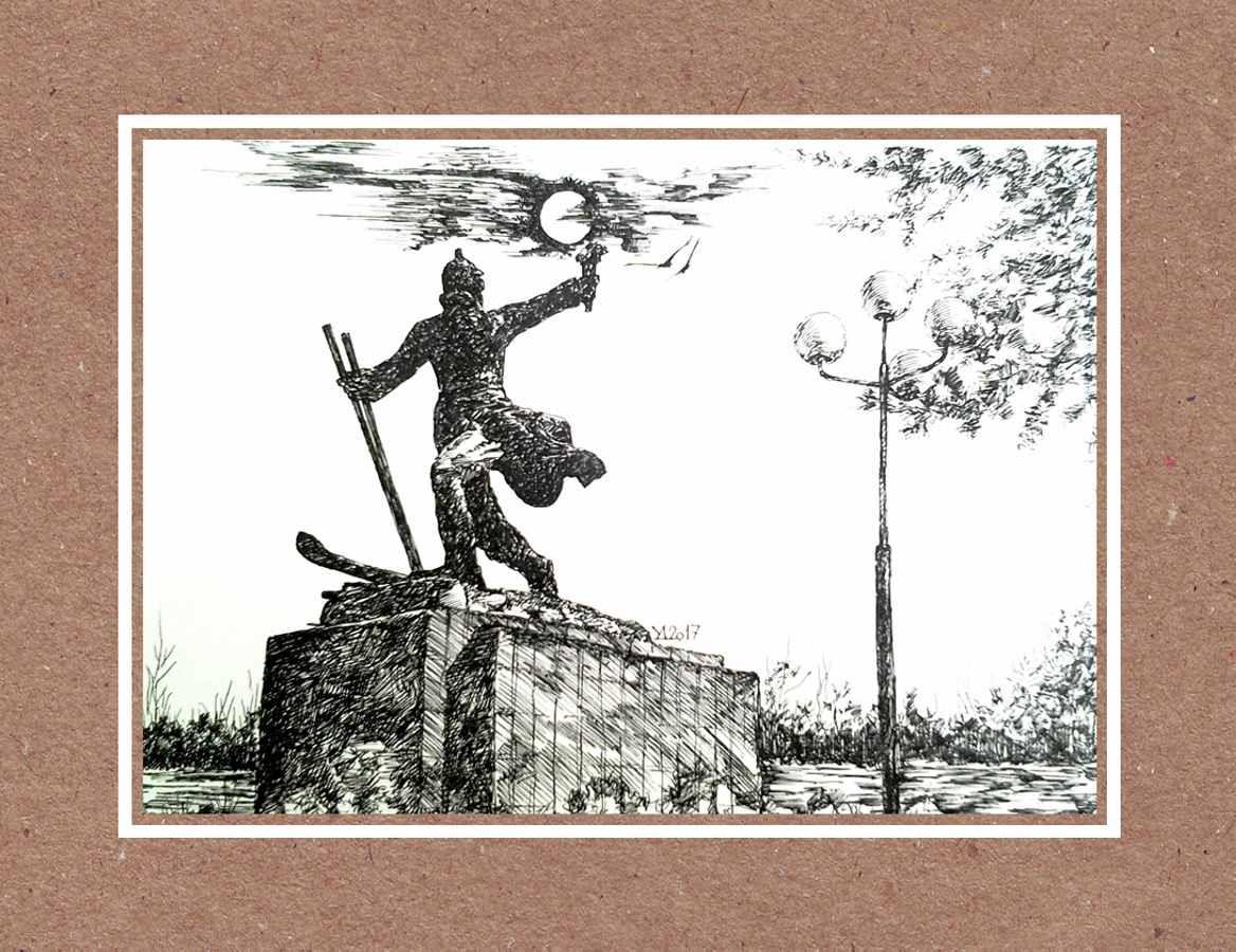 Памятник строителям-первопроходцам 2017