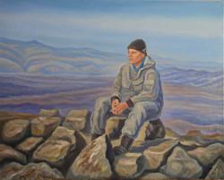 На вершине горы Белый Ян. Портрет Андреева Никиты х.м.