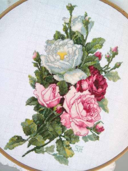 Букет роз. 25х18