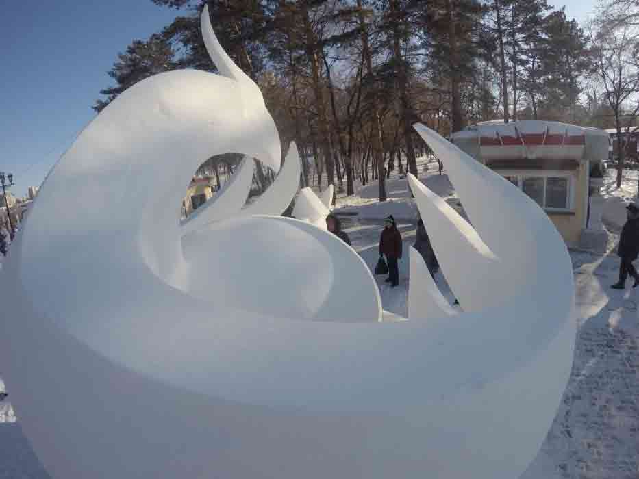 Конкурс снежных скульптур (2)