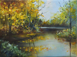 Осенние краски, х.м. 19х24
