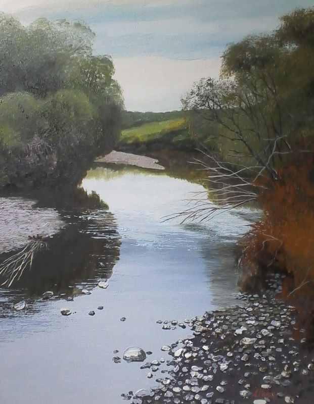 Река Бычиха. Выход к Уссури х.м. 60х50