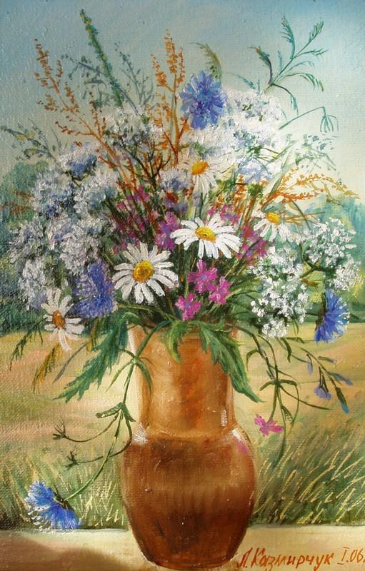 Букет полевых цветов 40х25 х