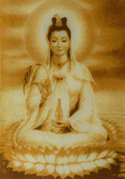 Богиня Гуань Инь 75х40
