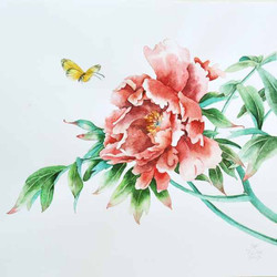 Пион по мотивам китайской живописи