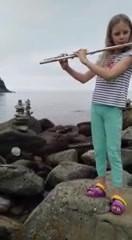 Флейта и море