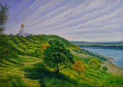 Вид на реку Уссури в Лесозаводске х.м.