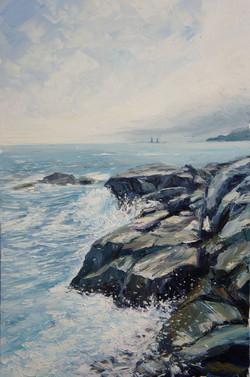 Холодное море х.м. 90х60. 2013