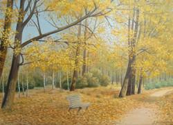 Осенний парк 90х60 х.м.