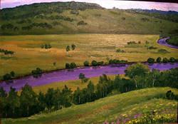 Вид на реку Кульдур холодный. карт., м.