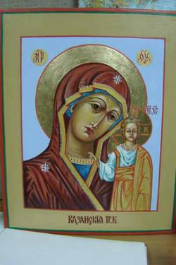 Образ казанской божьей матери (доска