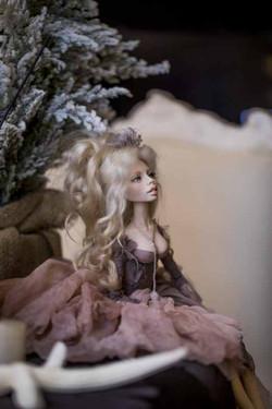 кукла ОЛана Полимерная глина, шёлк, шерсть 2018 г (7)