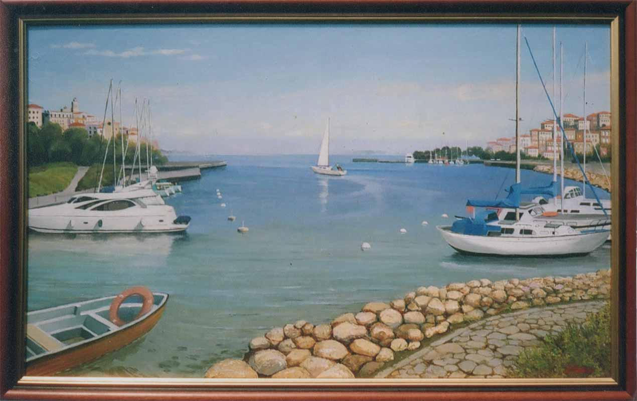 Греческий порт. х.м 60х120