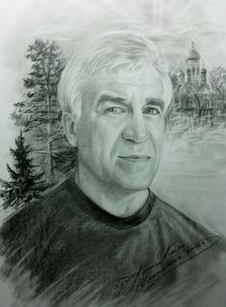 Мужской портрет 40х30 Бум