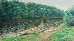 На реке Маноме х.м. 55х108. 2013