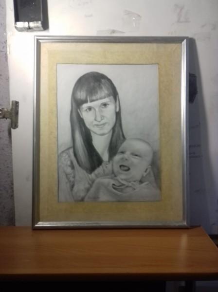 Портрет мамы с младенцем