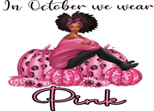 We wear pink  afro girl pumpkins