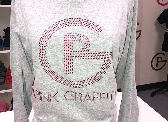 Pink Graffiti Rhinestone Shirts