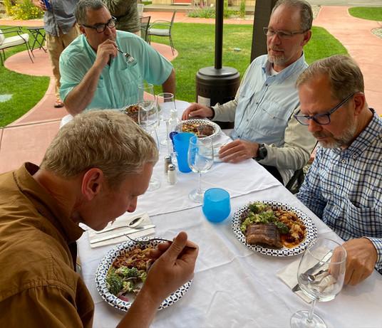 Dinner at Golden Stone Inn
