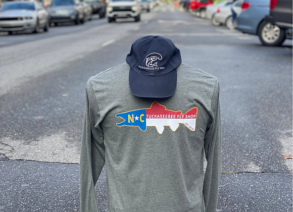 TFS NC State Flag Trout Longsleeve