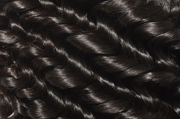 Loose wavy black human hair weave extens