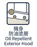 Oil Repellent Exterior Hood