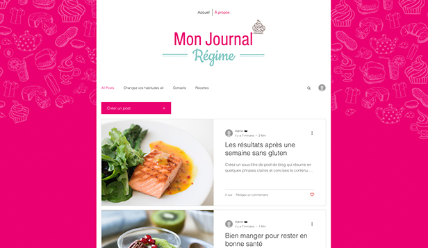 Blogs et forums website templates – Blog Bien-être