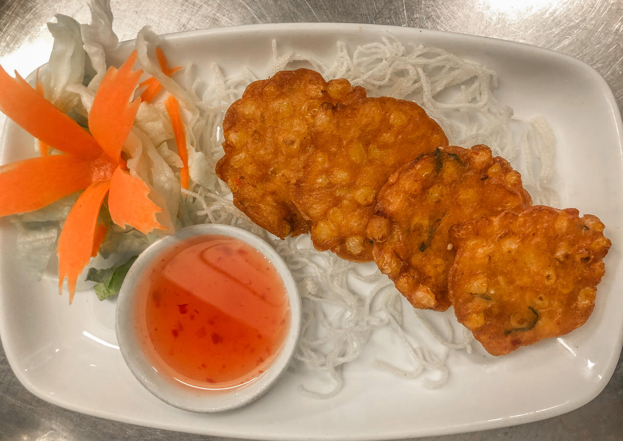 Thai Sweet Corn Cakes