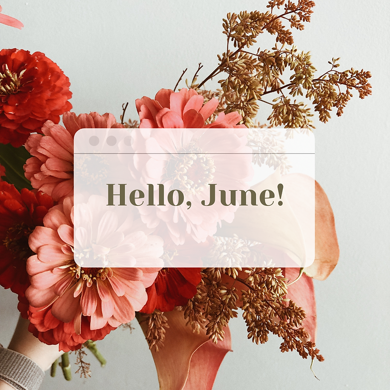 Floral Natural Hello May Instagram Post.