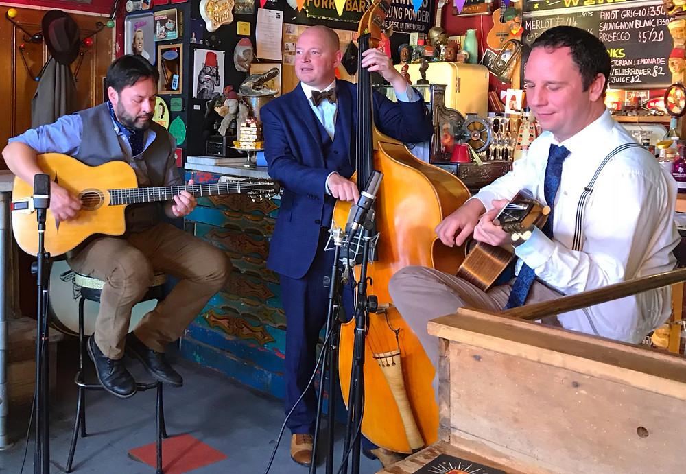The Jonny Hepbir Vintage Style Gypsy Jazz Trio