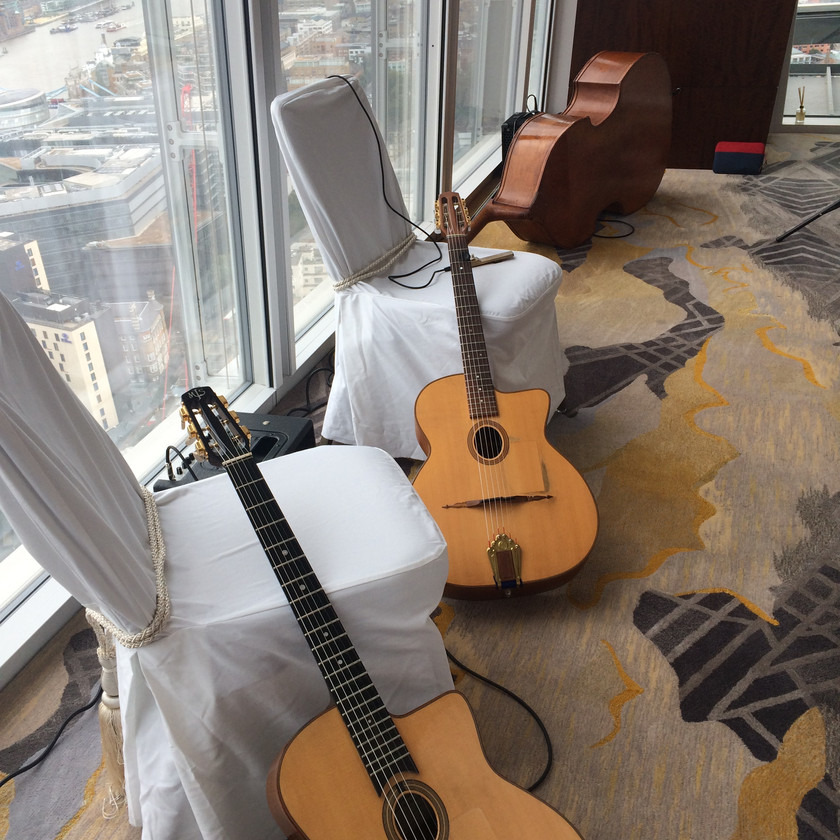 Jonny Hepbir Trio Perform At A Wedding In The Shangri-La Hotel At The Shard London