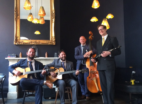 Canterbury Band Hire | Jonny Hepbir Gypsy Jazz Quartet