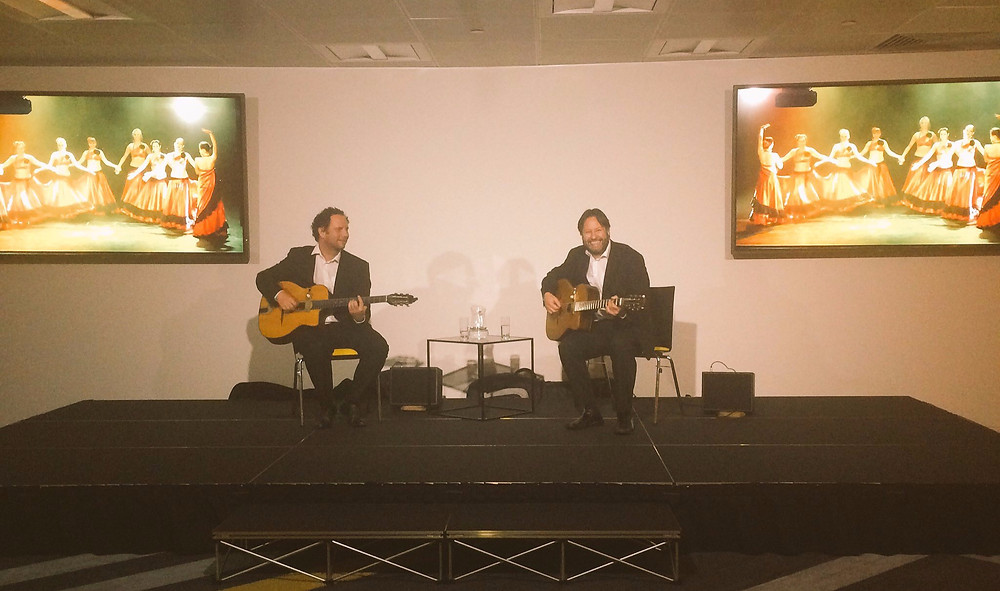 Jonny Hepbir Gypsy Jazz Duo At A Corporate Event At One Canada Square Canary Wharf In London