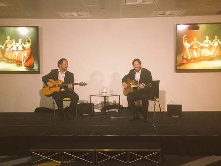 Jonny Hepbir Gypsy Jazz & Spanish Duo In the Sky For A Corporate Event At One Canada Square London
