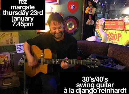 Kent Gypsy Jazz Band Hire 2020 | Jonny Hepbir Solo Guitarist Gig & Gypsy Jazz Workshop In Margate