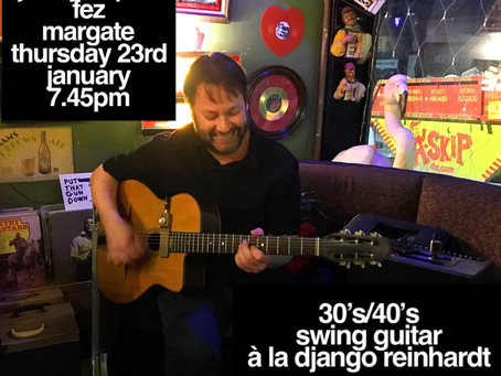 Kent Gypsy Jazz Band Hire 2020 | Jonny Hepbir Solo Guitarist Gig & Gypsy Jazz Workshop In Margate