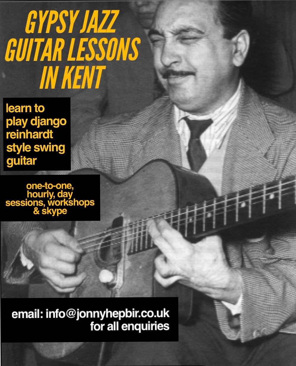 Gypsy Jazz Guitar Lessons In Kent With Jonny Hepbir