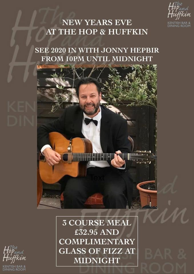 Jonny Hepbir Solo Gypsy Jazz Guitar New Year's Eve at the Hop & Huffkin in Sandwich, Kent