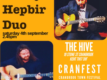 Jonny Hepbir Gypsy Jazz Duo At Cranfest In Cranbrook Kent 4th September | Hire The Duo For An Event
