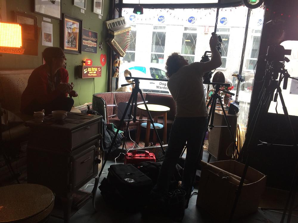 Jonny Hepbir Parisian Swing Band Filming At Fez Micropub Margate