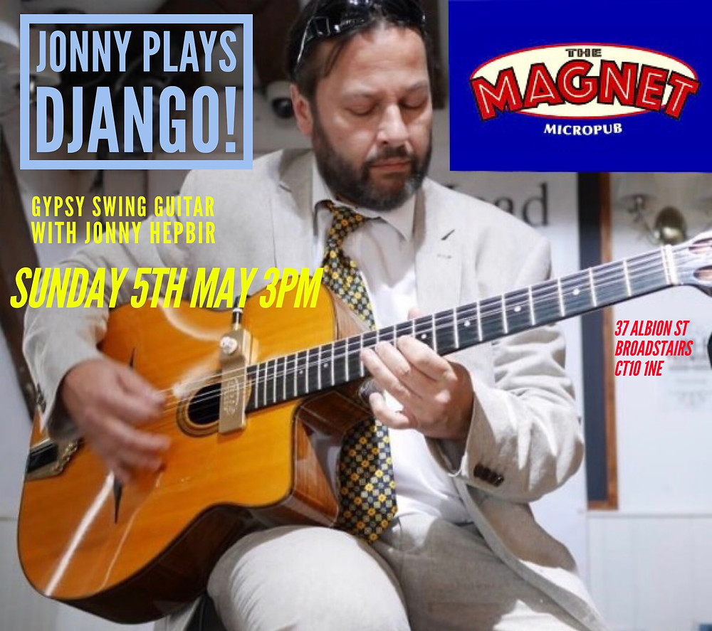 Jonny Hepbir Solo Gypsy Jazz Guitar At The Magnet Micropub In Broadstairs Kent